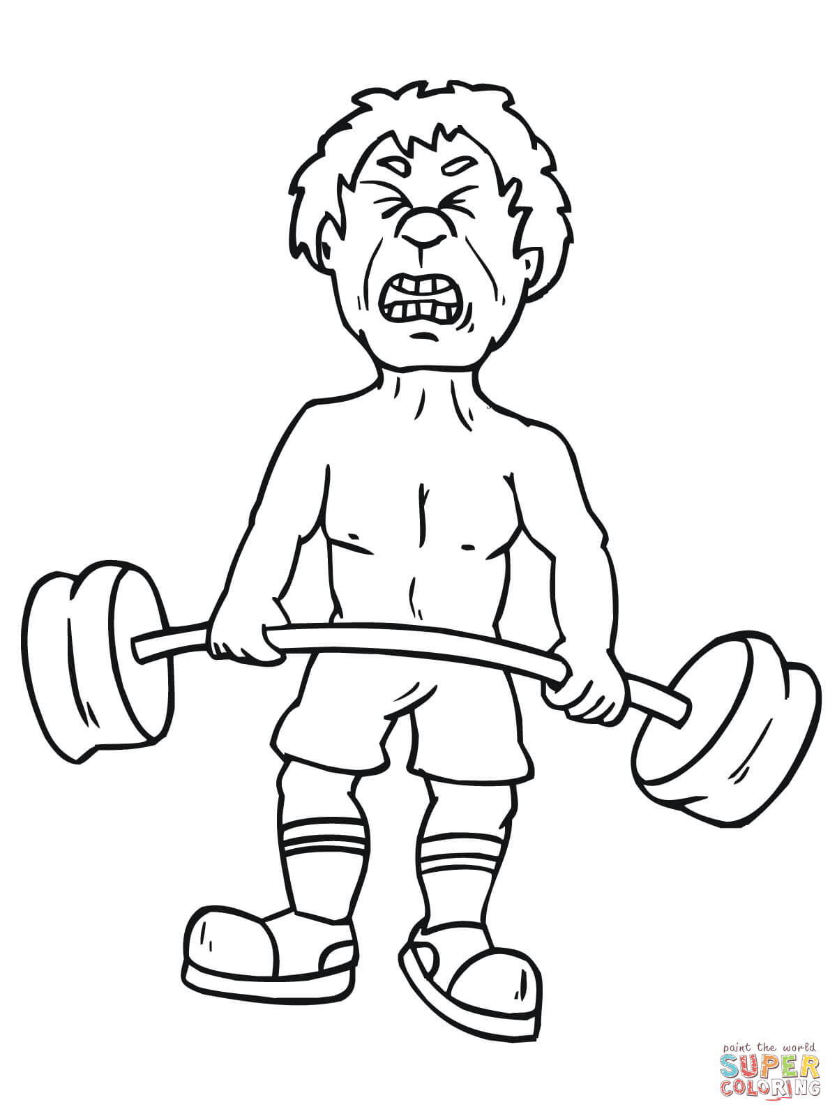 1200x1600 Weight Lifting Coloring Pages Free Coloring Pages