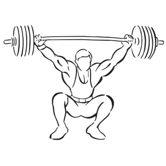 330x330 Lifting Barbell Drawing