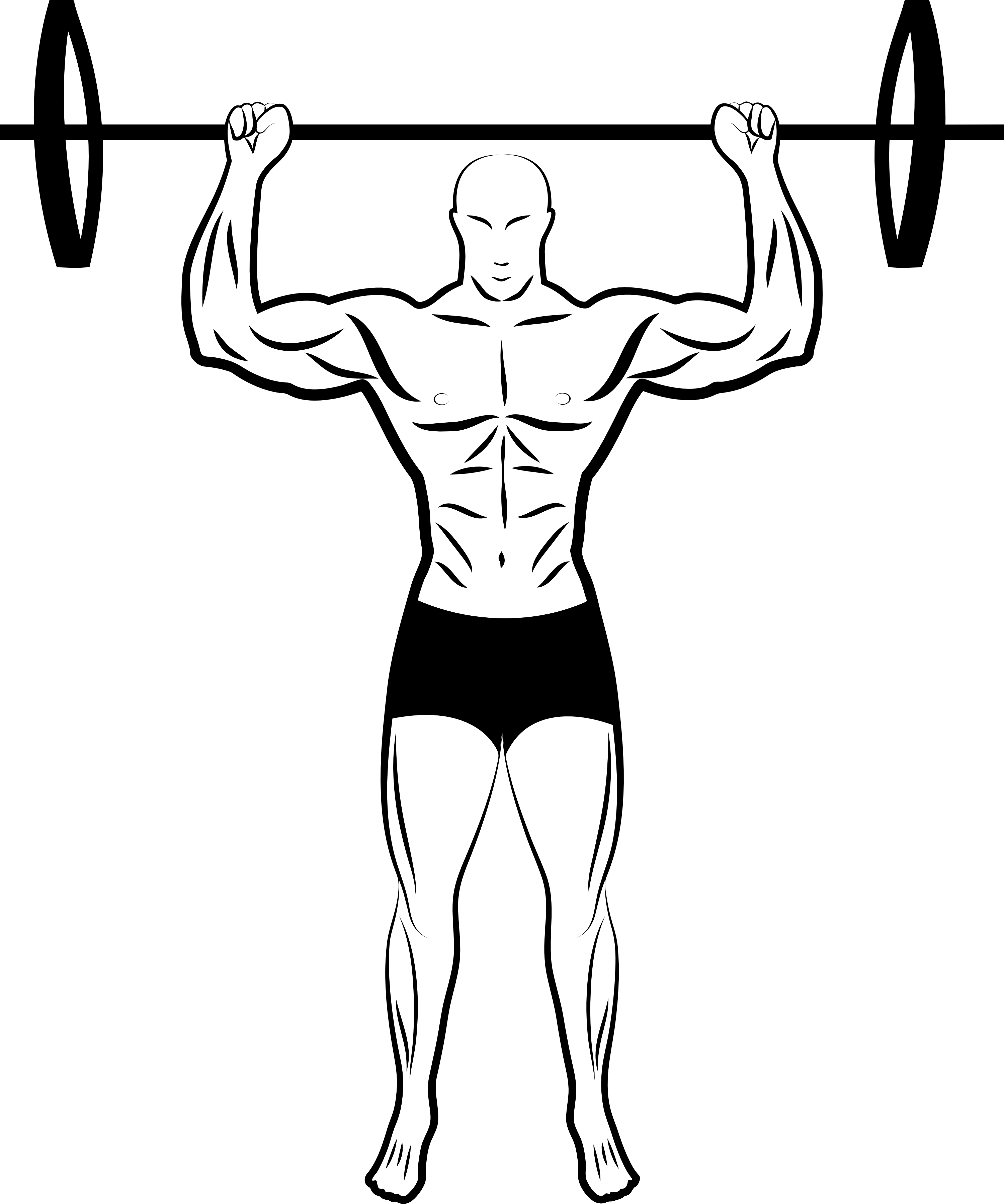 Weight Lifting Drawing at GetDrawings | Free download
