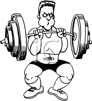 321x350 Weight Training Clip Art