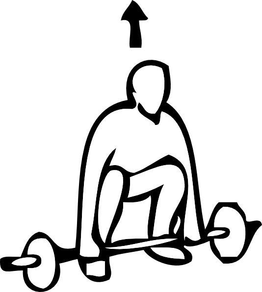 534x596 Weight Lifting Outline Sports Clip Art