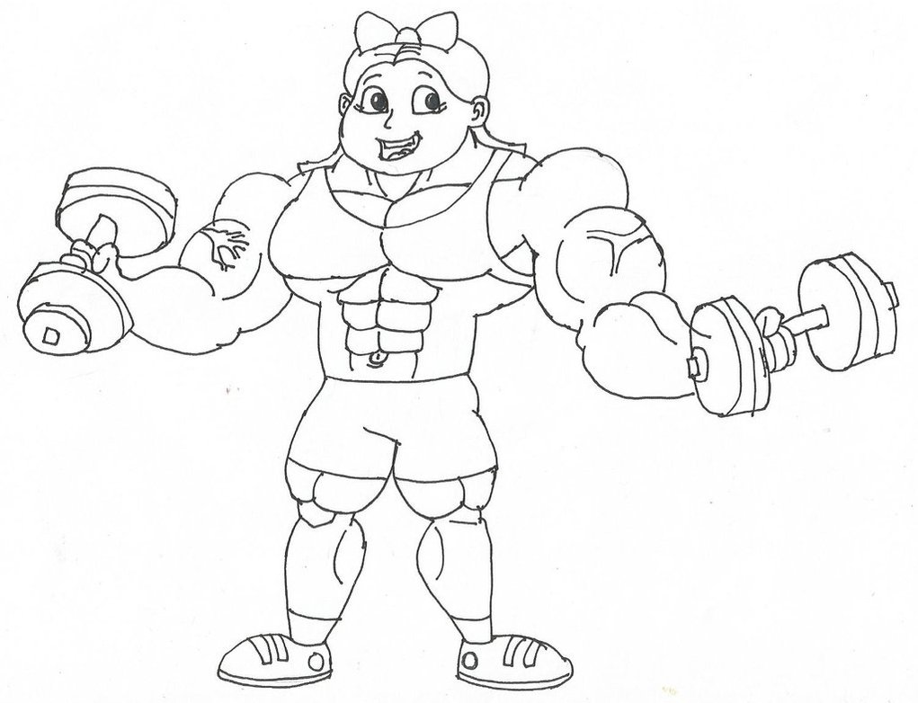 1021x782 Weightlifting Little Muscle Girl By Thefranksterchannel