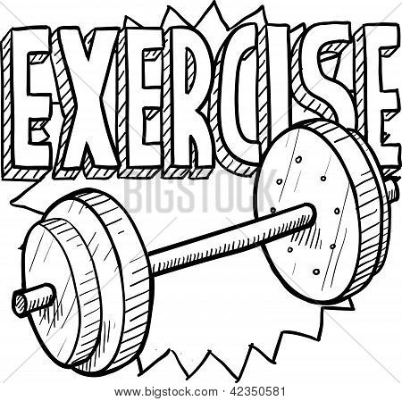 450x449 Weightlifting Sketch Poster Id42350581
