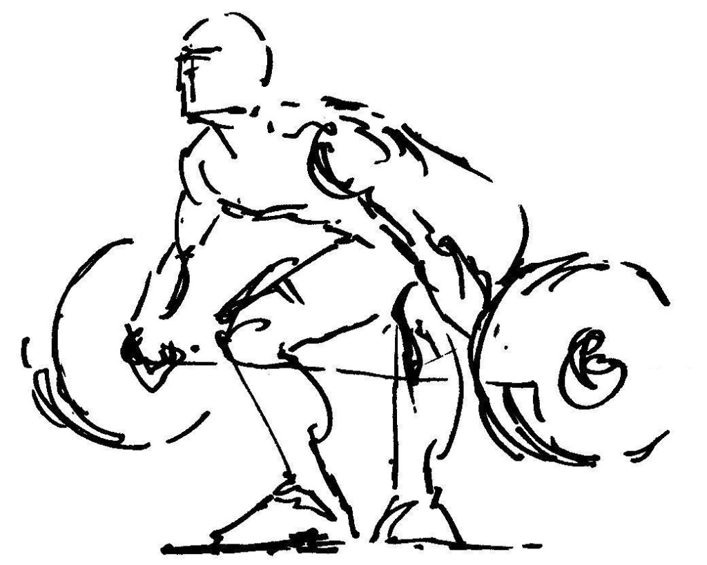 1024x819 Weightlifting Drawing