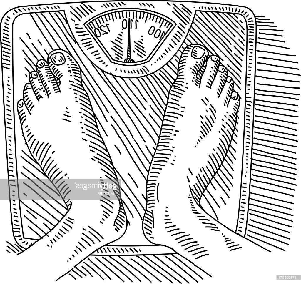 1024x965 Unique Weight Scale With Feet Drawing Vector Design