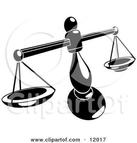 450x470 Balancing Weighing Scale Clipart Illustration By