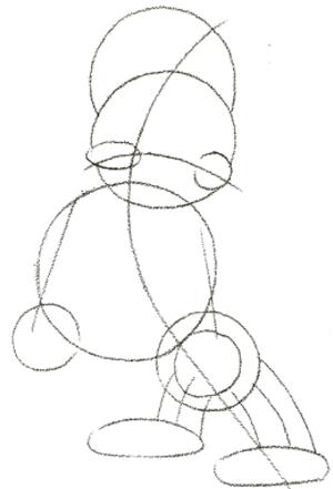 300x441 Step 2 Drawing Bullying Weight Lifter Cartoon Character