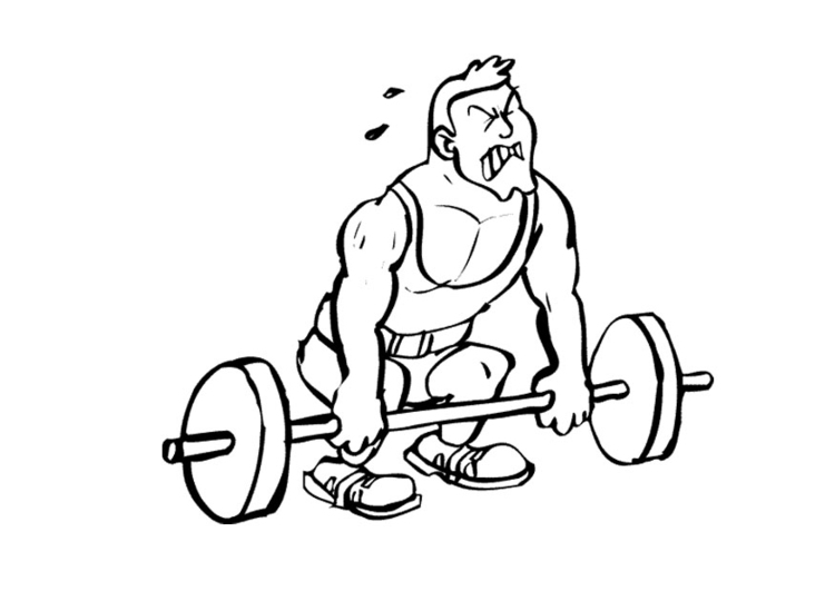 750x531 Coloring Page Weightlifter