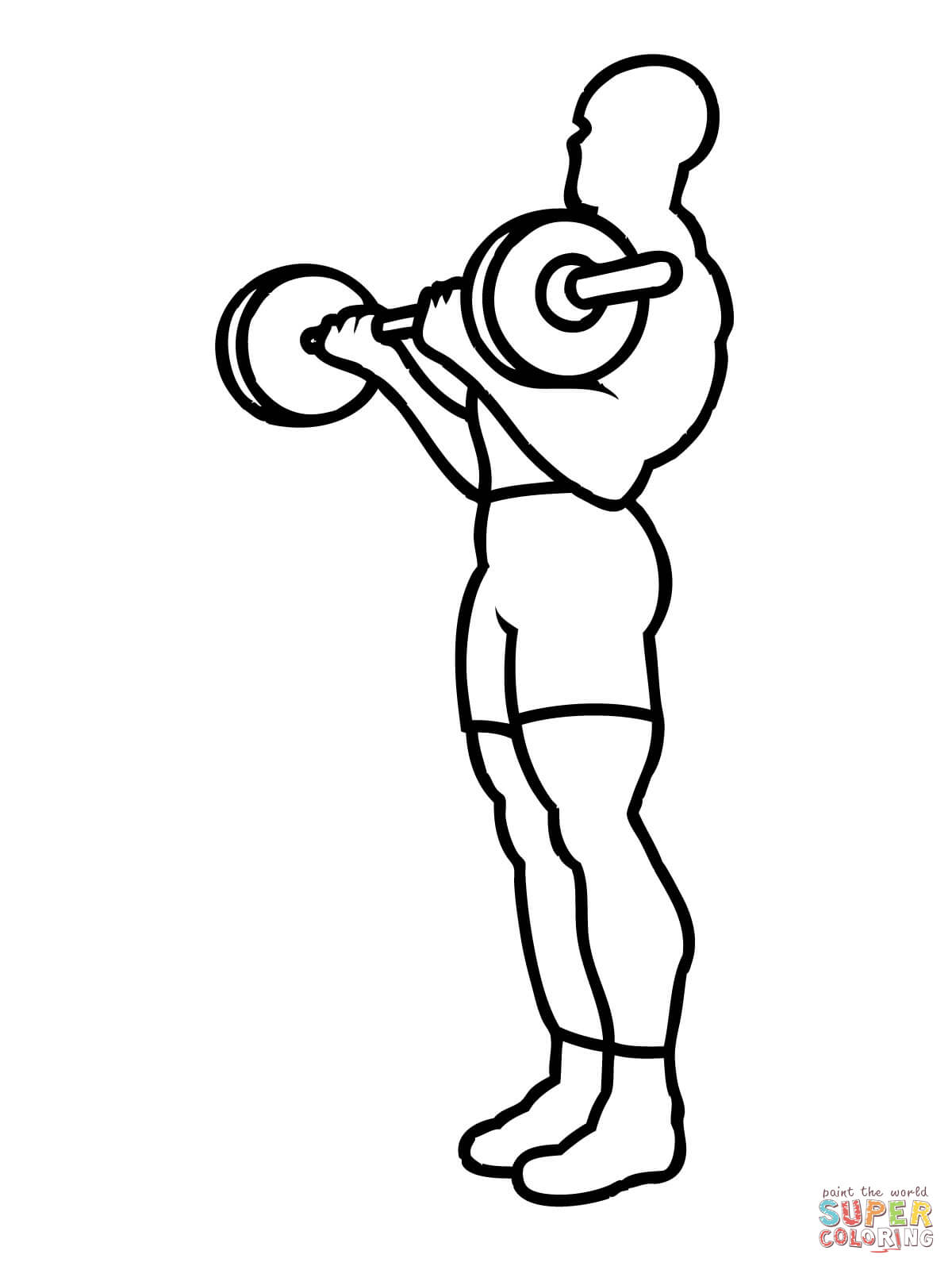 1200x1600 Weight Training Workout Coloring Page Free Printable Coloring Pages