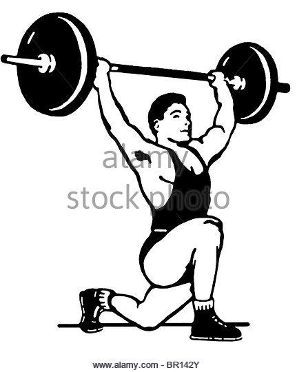 431x540 Drawing Man Weight Lifter Sport Stock Photos Amp Drawing Man Weight