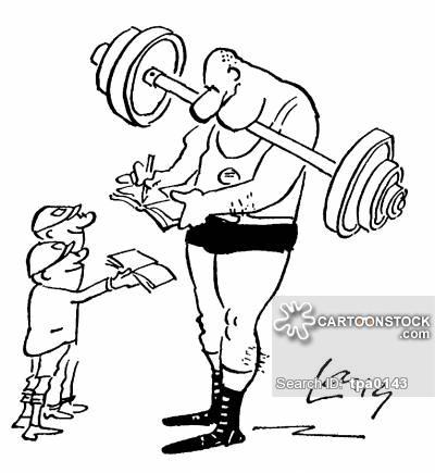 400x435 Weight Lifting Cartoons And Comics