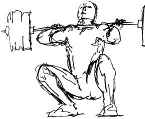 290x238 Weightlifting Drawing