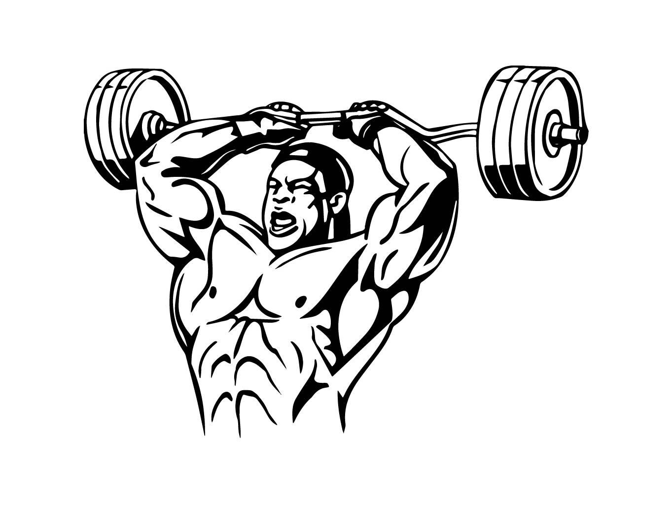 1363x1025 Bodybuilder 18 Bodybuilding Logo Front Pose Weightlifting