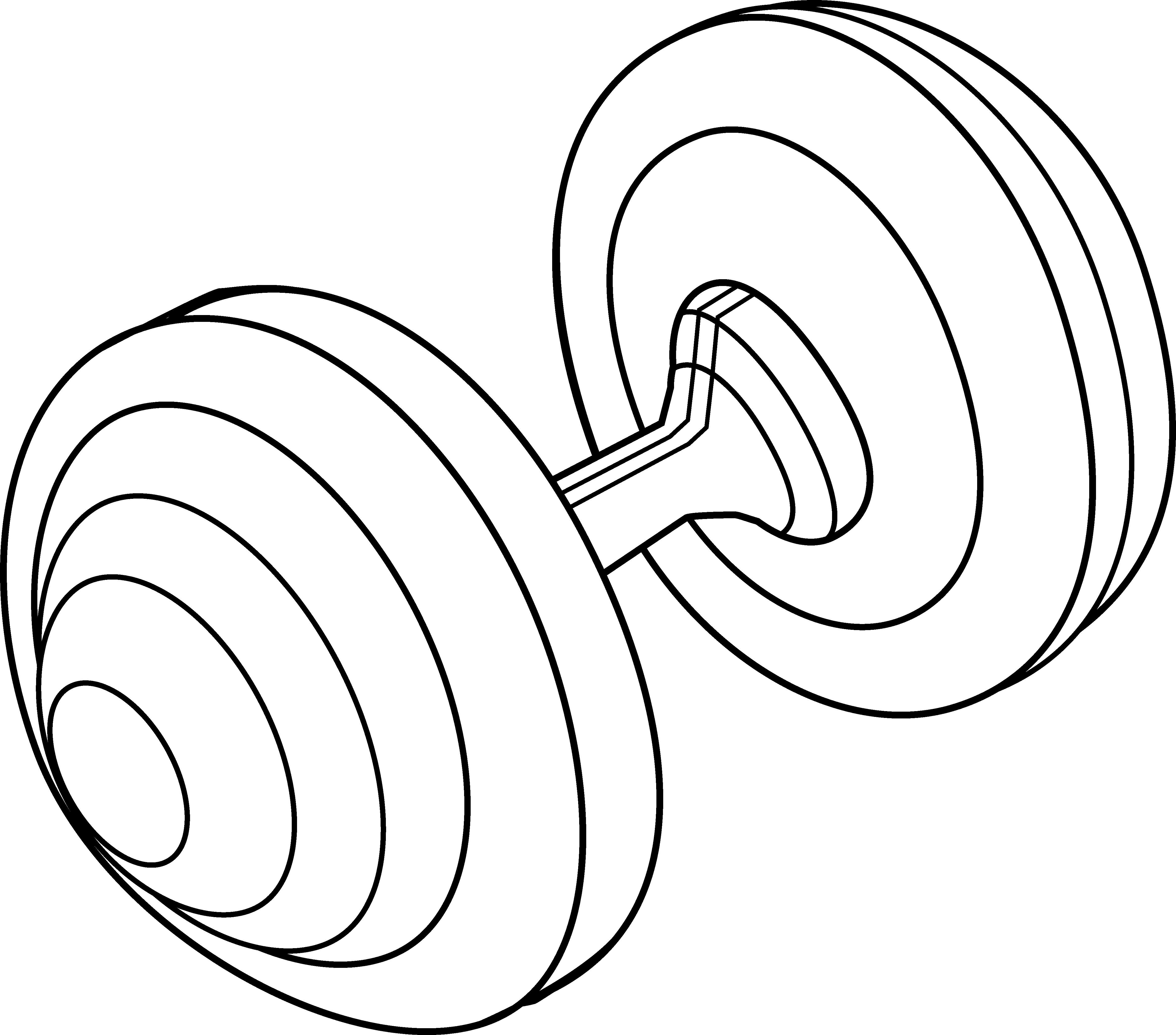 4660x4100 Barbell Weight Line Art