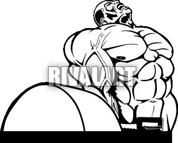 361x290 Weight Training Clip Art