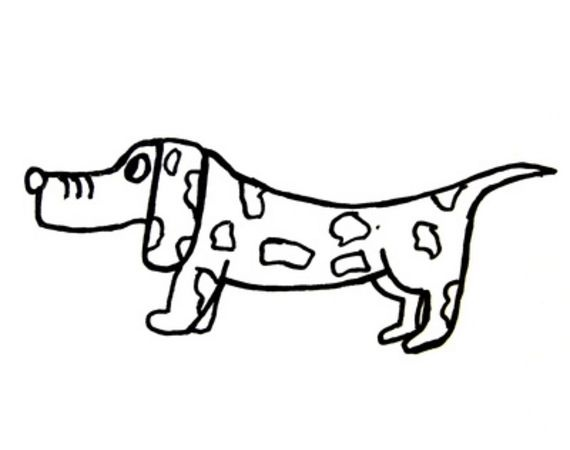 Weiner Dog Drawing