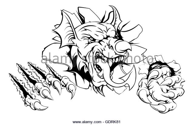 640x413 Welsh Dragon Tattoo Stock Photos Amp Welsh Dragon Tattoo Stock