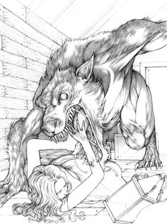 Werewolf Drawing