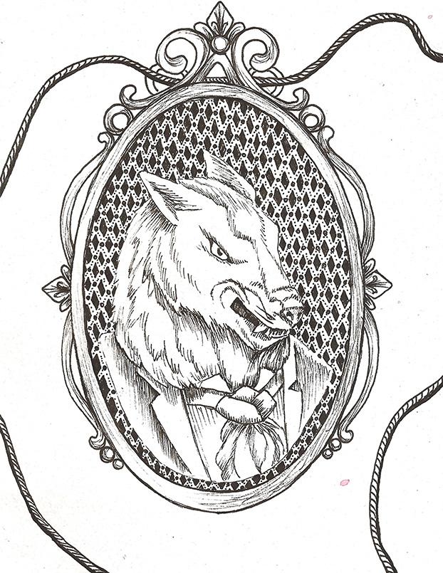 622x805 Werewolf Cameo Lysswhit Art