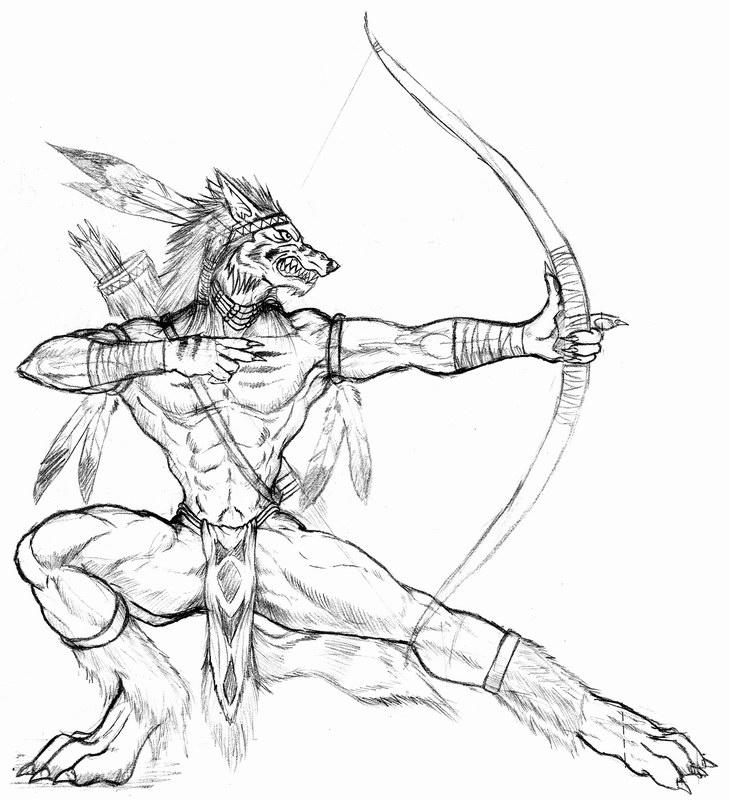 730x800 Werewolf Archer By Wolflsi