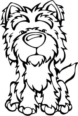 267x398 West Highland White Terrier Decal Dog Angry Squirrel Studio