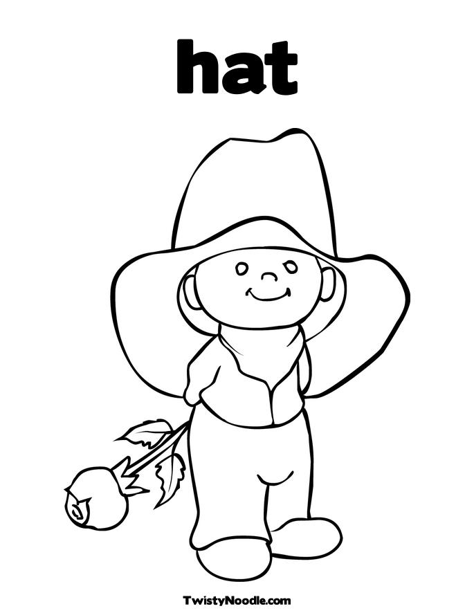 685x886 Cowboy Hat Coloring Pages Printable