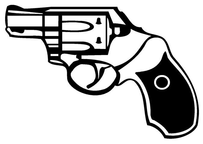 675x480 Handgun 1 Decal Sticker