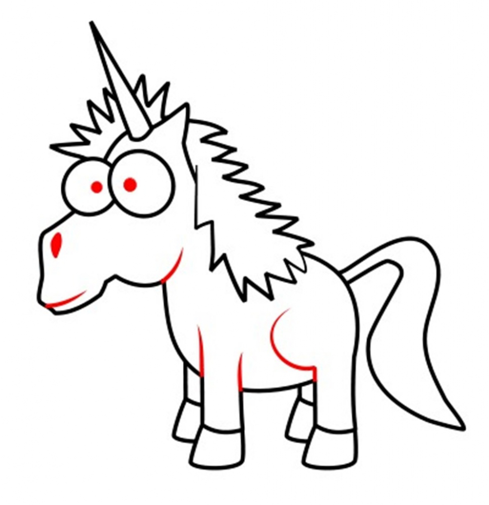 992x1024 Cartoon Unicorn Drawing How To Draw A Cartoon Narwhal Unicorn