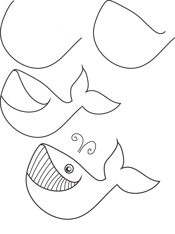 600x800 Drawing Whale