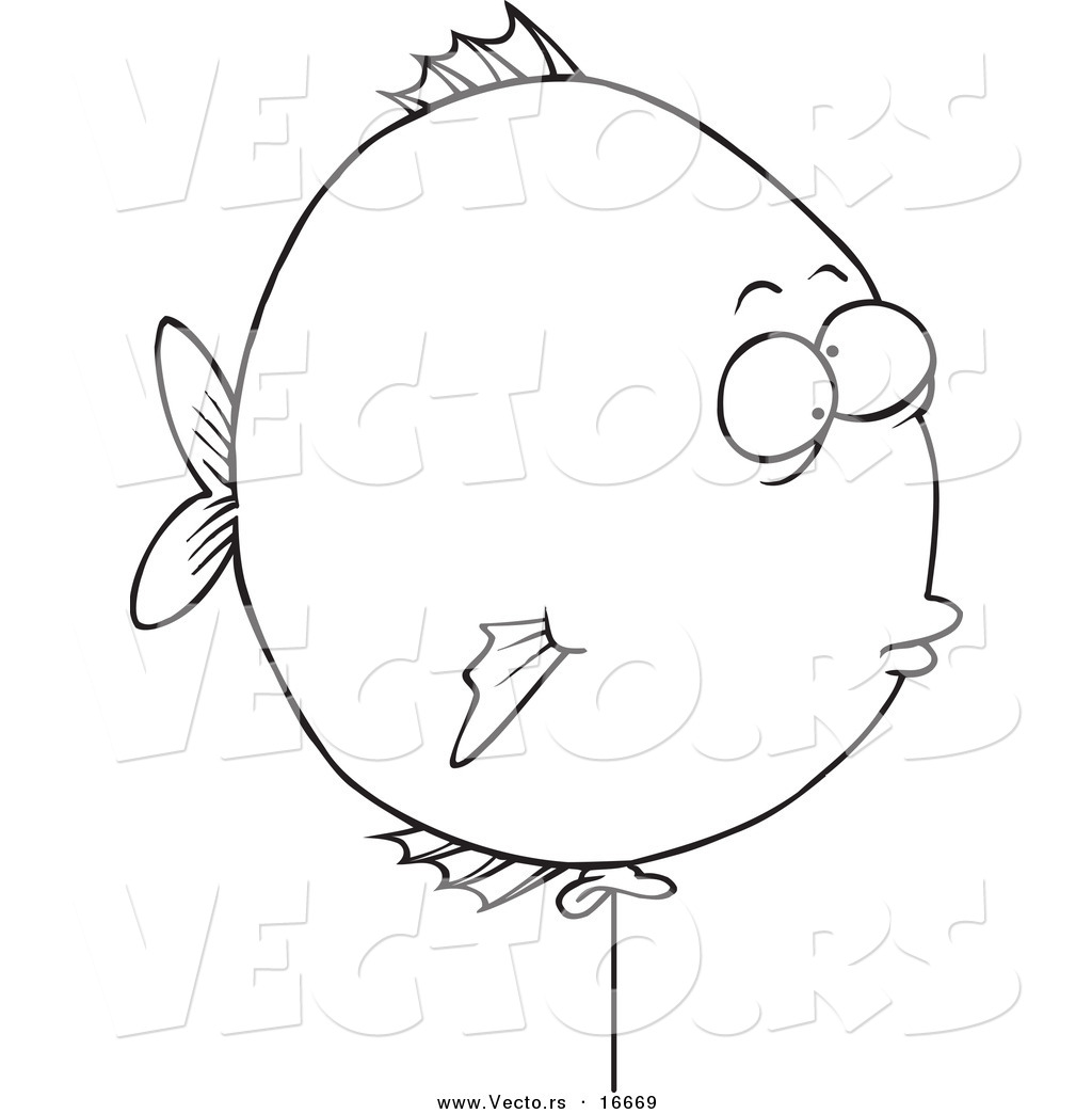 1024x1044 Vector Of A Cartoon Balloon Fish