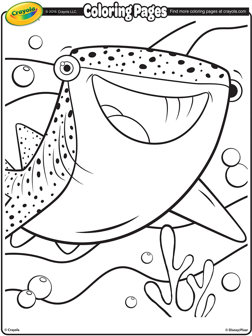 810x1080 Finding Dory Destiny, The Whale Shark Coloring Page