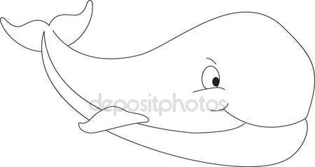450x239 Whale Line Drawing Illustration Stock Photo Jamesstar
