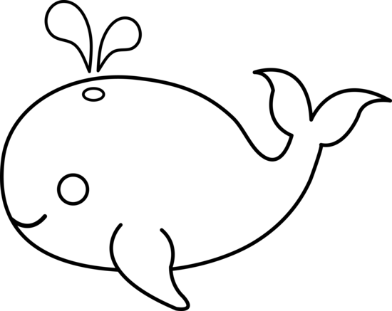 550x437 Cute Colorable Whale
