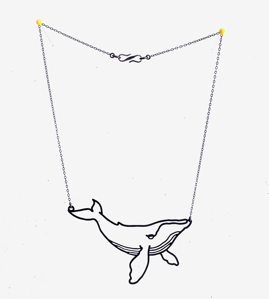 888x986 Humpback Whale Outline Necklace Jewelry Necklaces Zuu Studio