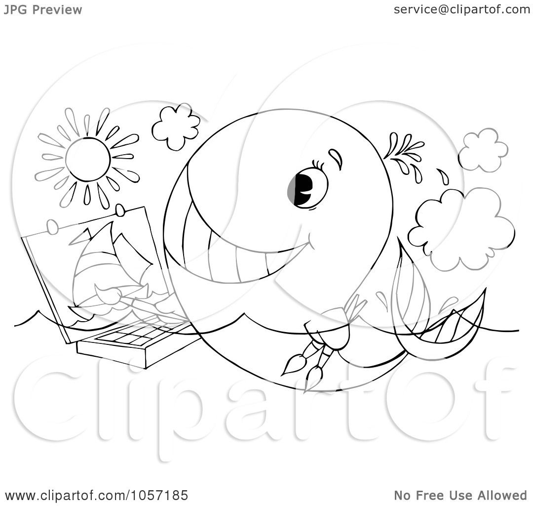 1080x1024 Royalty Free Clip Art Illustration A Coloring Page Outline
