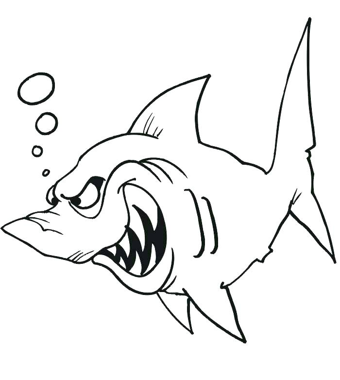 700x782 Shark Coloring Pages Printable Shark Coloring Book In Addition