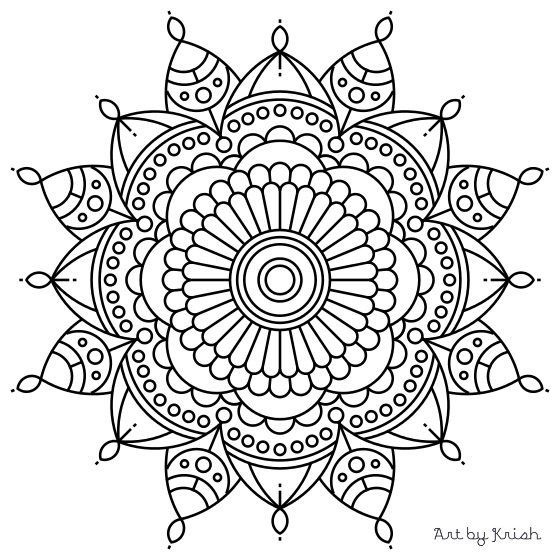 560x560 Exciting Coloring Pages Mandala 43 For Line Drawings With