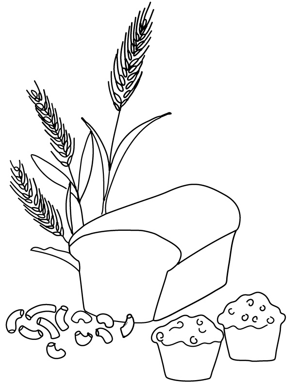 612x792 Free Printable Coloring Page And Clipart Wheat Products