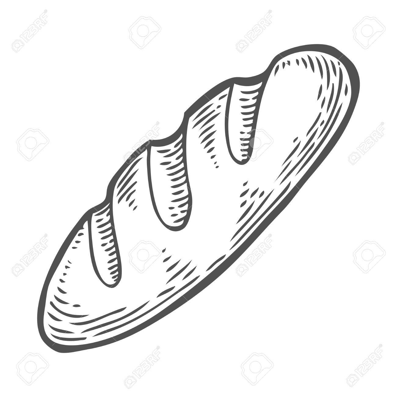 1300x1300 Bread Vector Hand Drawn Illustration. Other Types Of Wheat, Flour