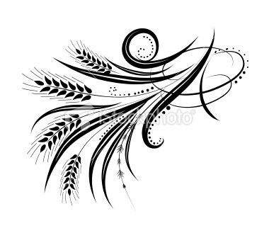 380x329 Calligraphic Wheat Flourishes Vector Illustration Flourish