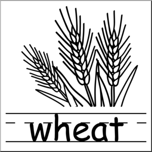 304x304 Clip Art Basic Words Wheat Bampw Labeled I Abcteach
