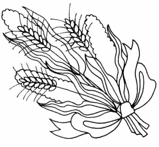 550x508 Wheat Bouquets