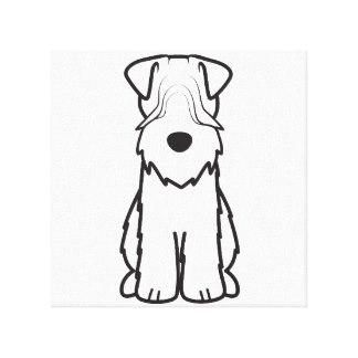 324x324 Soft Coated Wheaten Terrier Cartoon Art Amp Framed Artwork Zazzle