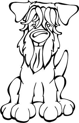 265x412 Soft Coated Wheaten Terrier Decal Dog Angry Squirrel Studio