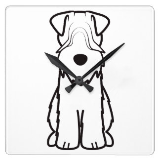 324x324 Soft Coated Wheaten Terrier Wall Clocks Zazzle