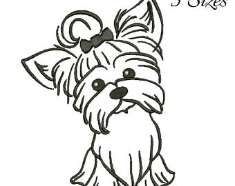 340x270 Terrier Embroidery Etsy