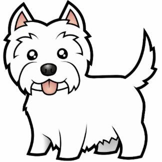 324x324 Cartoon West Highland White Terrier Photo Sculpture Magnet All