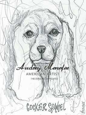 284x378 Dog Art Drawings Prints Pet Portraits By Audrey Menefee