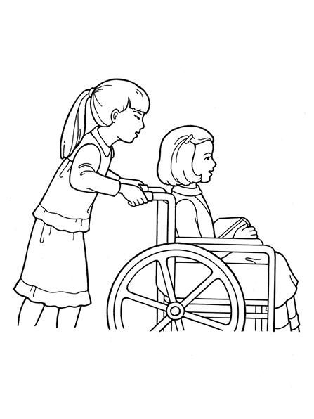 Wheel Chair Drawing