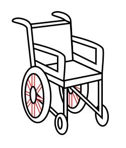 250x293 Drawing A Cartoon Wheelchair